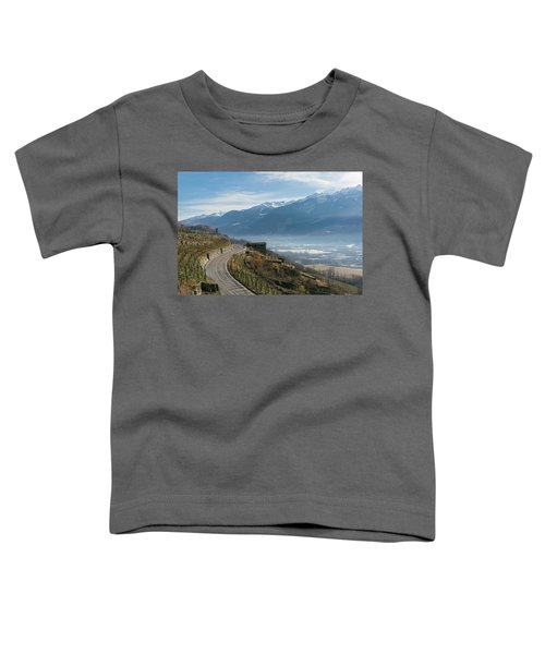 Swerving Road In Valtellina, Italy Toddler T-Shirt