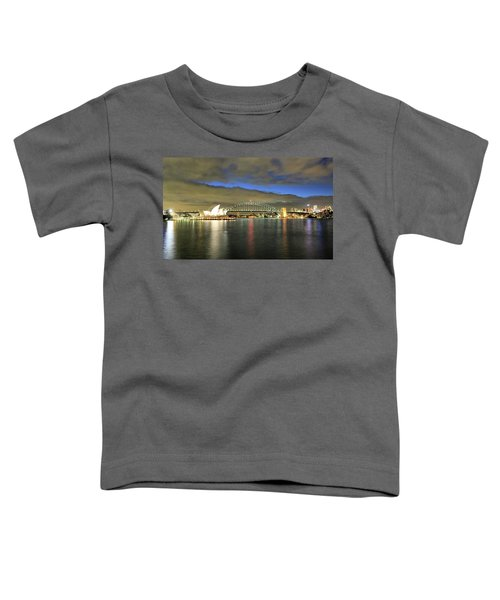 Sydney Harbor At Blue Hour Toddler T-Shirt