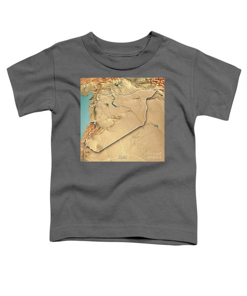 Syria Country 3d Render Topographic Map Border Toddler T-Shirt