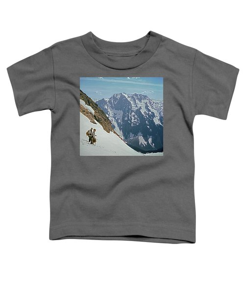 T-04402 Fred Beckey And Joe Hieb After First Ascent Forbidden Peak Toddler T-Shirt