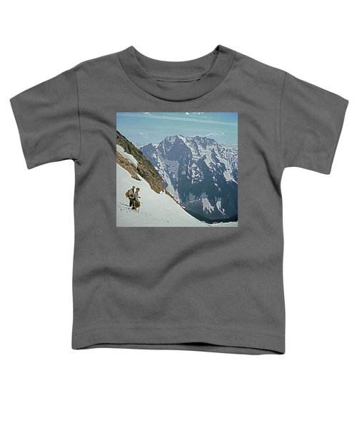 T04402 Beckey And Hieb After Forbidden Peak 1st Ascent Toddler T-Shirt
