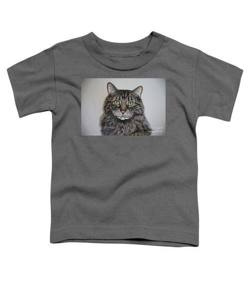 Tabby-lil' Bit Toddler T-Shirt by Megan Cohen