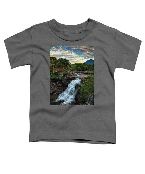 Tad Lo Waterfall, Bolaven Plateau, Champasak Province, Laos Toddler T-Shirt
