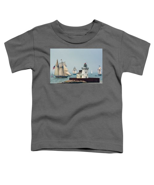 Tall Ships At Cleveland Lighthouse Toddler T-Shirt