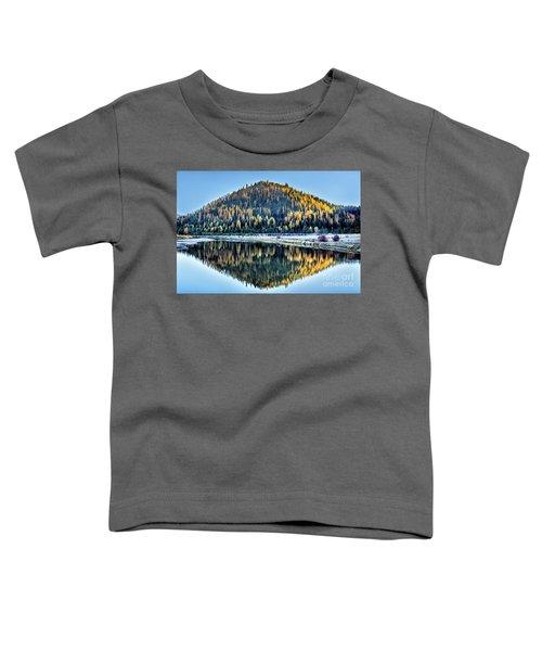 Tamarack Glow Idaho Landscape Art By Kaylyn Franks Toddler T-Shirt