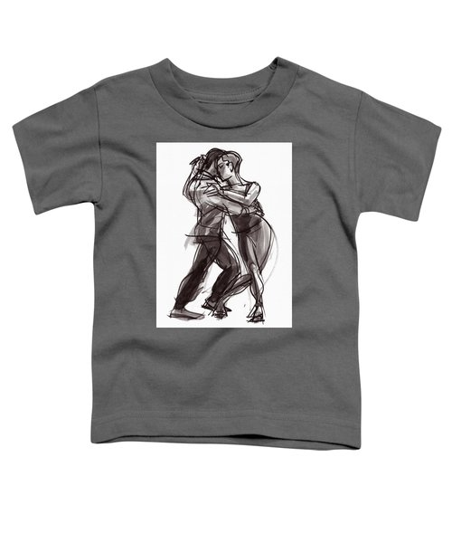 Toddler T-Shirt featuring the painting Tango #9 by Judith Kunzle