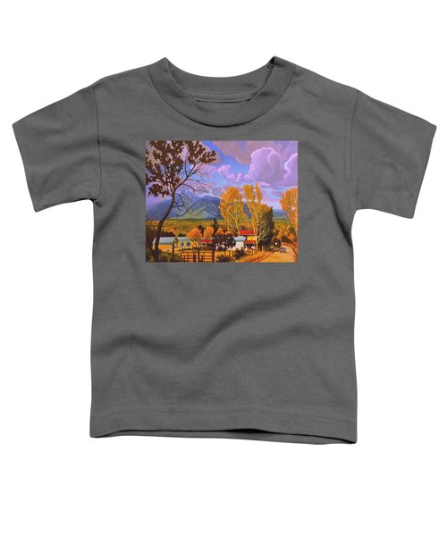 Taos Red Roofs Toddler T-Shirt
