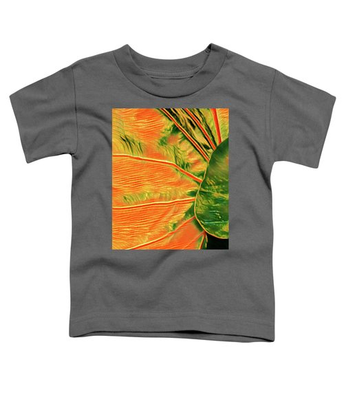 Taro Leaf In Orange - The Other Side Toddler T-Shirt