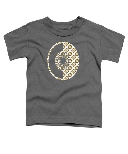 Taupe Floral Pattern Toddler T-Shirt