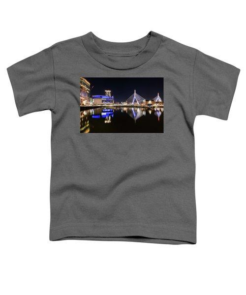 Td Garden And The Zakim Bridge At Night Toddler T-Shirt