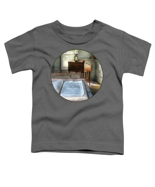 Teacher - One Room Schoolhouse With Book Toddler T-Shirt