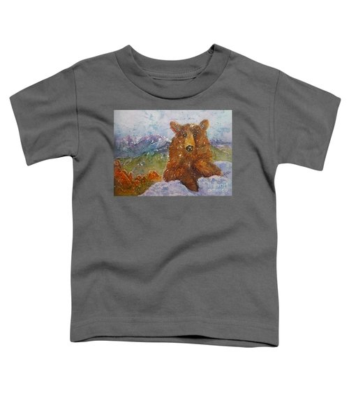 Teddy Wakes Up In The Most Desireable City In The Nation Toddler T-Shirt