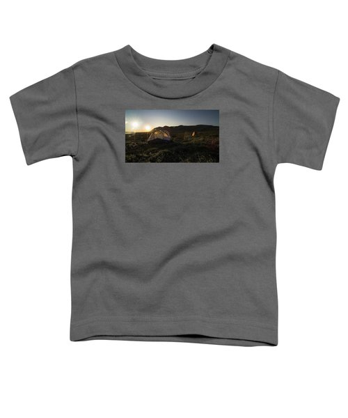 Tenting In The Midnight Sun Toddler T-Shirt