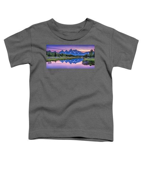 Sunset Teton Reflection Toddler T-Shirt