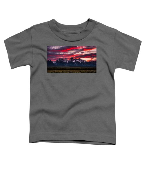 Teton Sunset Toddler T-Shirt