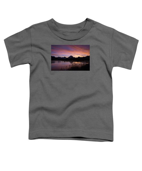 Teton Sunset Toddler T-Shirt by Gary Lengyel