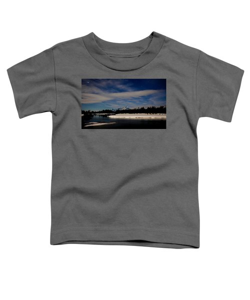 Tetons At Moonlight Toddler T-Shirt