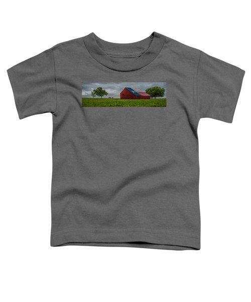 Texas Barn Panorama Toddler T-Shirt