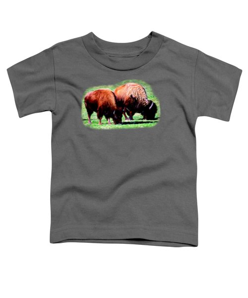 Texas Bison Toddler T-Shirt by Linda Phelps