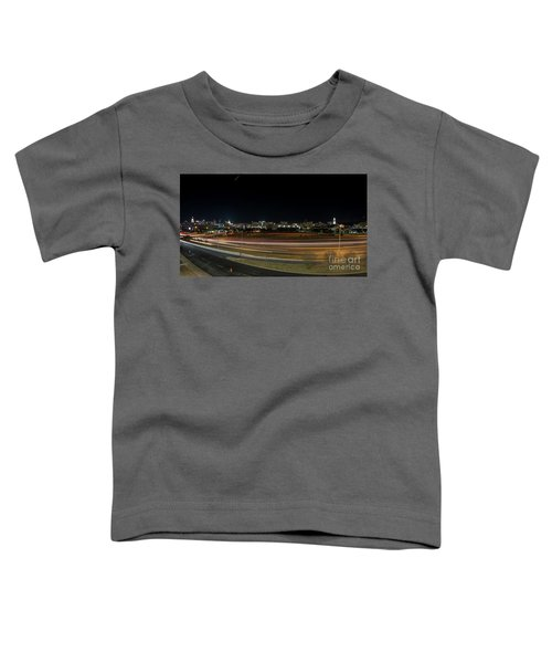 Texas University Tower And Downtown Austin Skyline From Ih35 Toddler T-Shirt