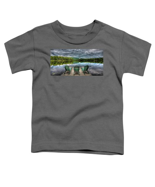 The Adirondack Mountains - Forever Wild Toddler T-Shirt
