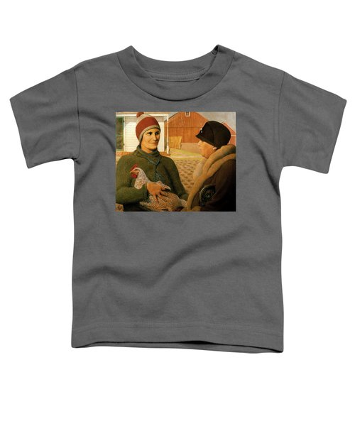 Toddler T-Shirt featuring the painting The Appraisal by Celestial Images