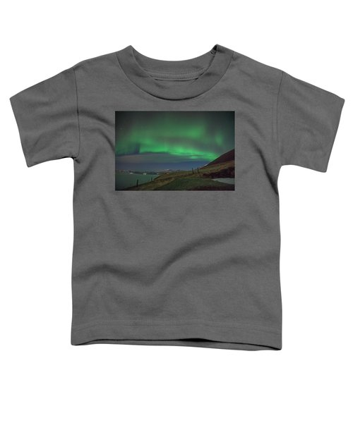 The Aurora Borealis Over Iceland Toddler T-Shirt
