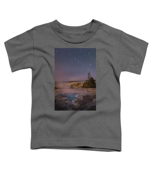 The Big Dipper In Yellowstone National Park Toddler T-Shirt