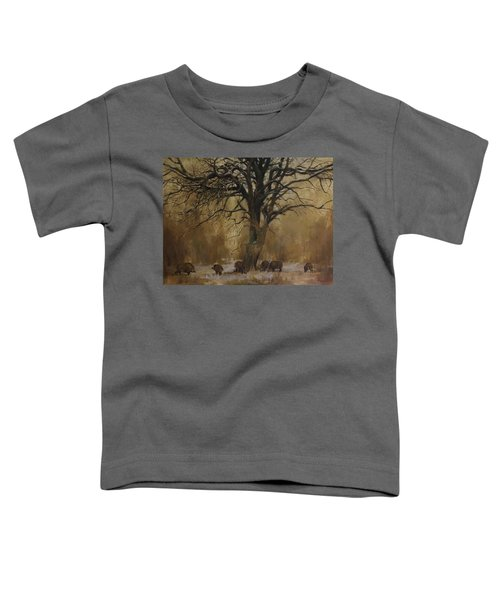 The Big Tree With Wild Boars Toddler T-Shirt
