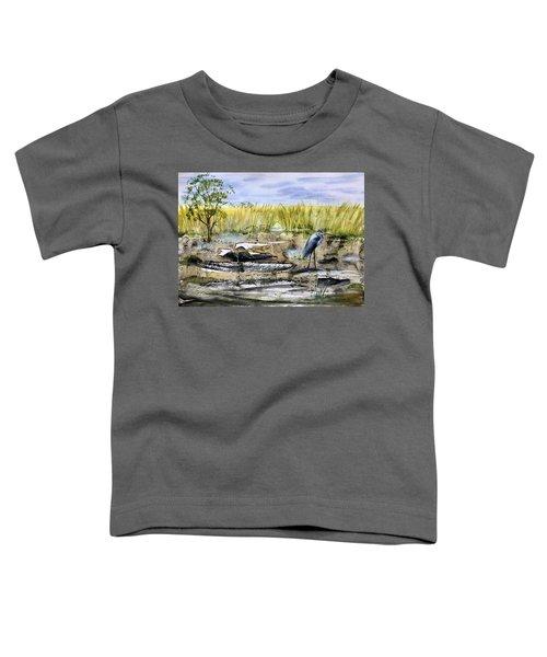 The Blue Egret Toddler T-Shirt