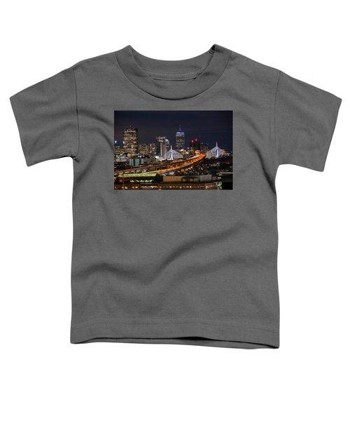 The Boston Skyline Boston Ma Full Zakim Toddler T-Shirt