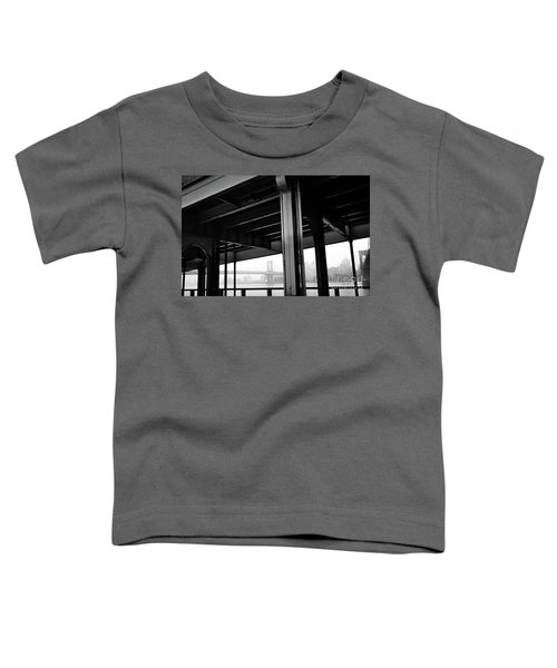 The Brooklyng Bridge And Manhattan Bridge From Fdr Drive Toddler T-Shirt