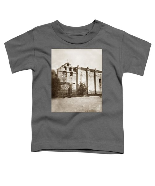The Campanario, Or Bell Tower Of San Gabriel Mission Circa 1880 Toddler T-Shirt