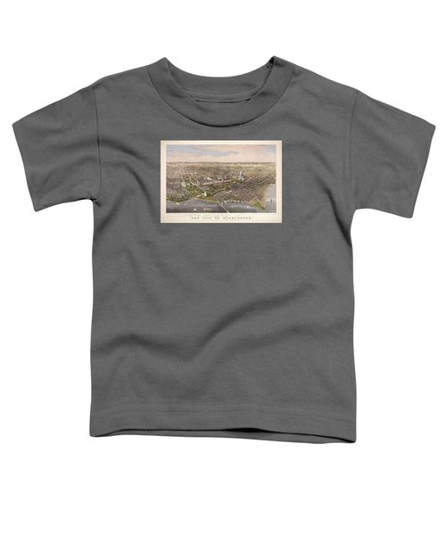 The City Of Washington Toddler T-Shirt by Charles Richard Parsons