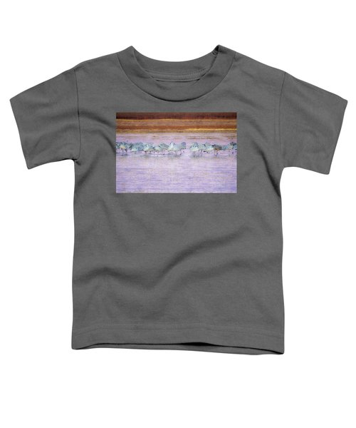 The Cranes Of Bosque Toddler T-Shirt