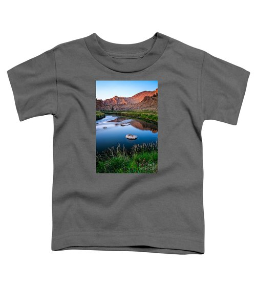 The Crooked River Runs Through Smith Rock State Park  Toddler T-Shirt