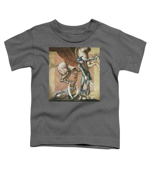The Death Of Medusa I Toddler T-Shirt by Edward Coley Burne-Jones