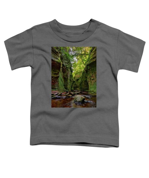 The Devil Pulpit At Finnich Glen Toddler T-Shirt by Jeremy Lavender Photography