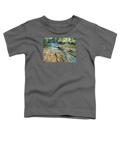 Toddler T-Shirt featuring the painting The East Dart River Dartmoor by Lawrence Dyer
