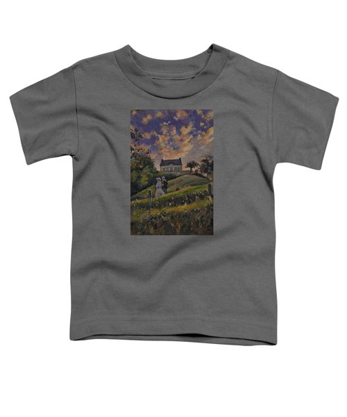 The Evening Stroll Around The Hoeve Zonneberg Toddler T-Shirt by Nop Briex