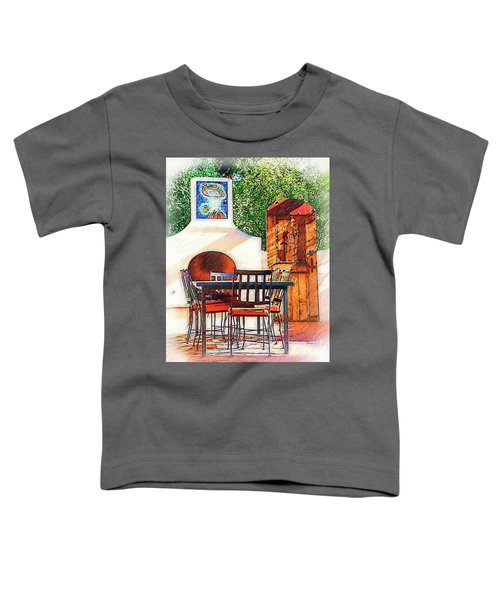 The Fireplace, Table And Door Toddler T-Shirt