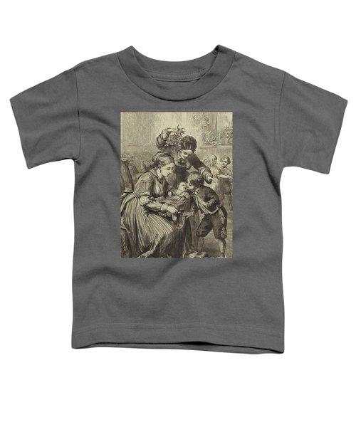 The First Kiss Under The Mistletoe Toddler T-Shirt