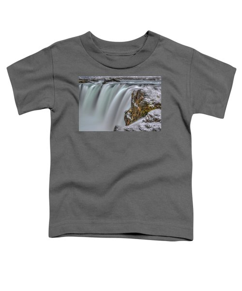 The Flowing Godafoss Falls Toddler T-Shirt