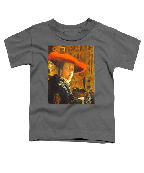The Girl With The Red Hat After Jan Vermeer Toddler T-Shirt