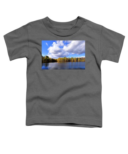 Toddler T-Shirt featuring the photograph The Golden Forest At Woodcraft by David Patterson