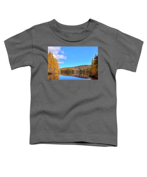 Toddler T-Shirt featuring the photograph The Golden Tamaracks Of Woodcraft Camp by David Patterson
