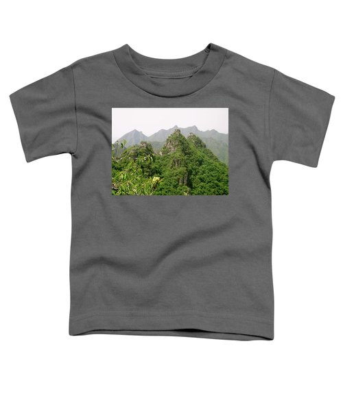 The Great Wall Of China Winding Over Mountains Toddler T-Shirt