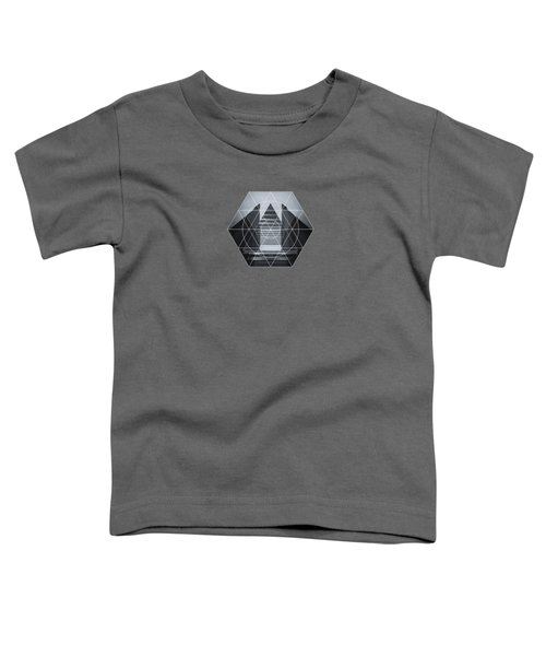 The Hotel Experimental Futuristic Architecture Photo Art In Modern Black And White Toddler T-Shirt