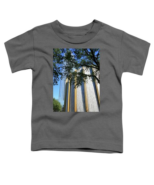 The Houston Water Wall And Williams Tower Toddler T-Shirt