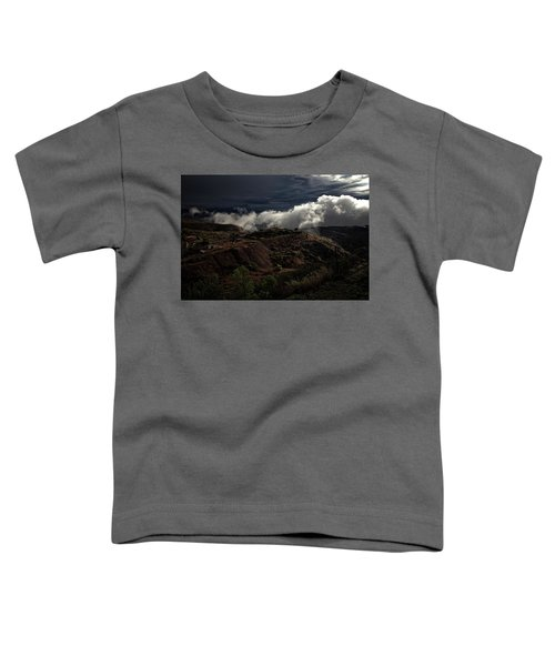 The Jerome State Park With Low Lying Clouds After Storm Toddler T-Shirt